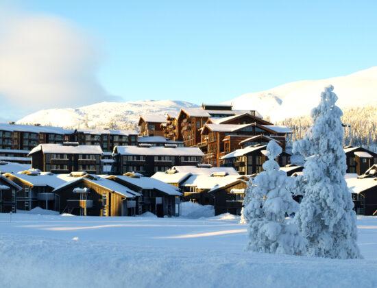 Vinterfasade på Norefjell Ski og Spa