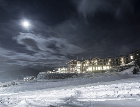 Bilde fra skibakken på Norefjell